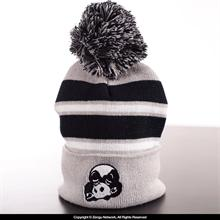 Inverted Gear Grey Panda Beanie
